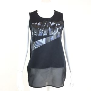 Nike Black Graphic Tunic Tank Top